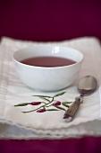 A bowl of fruit tea