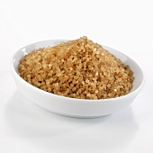 Organic cane sugar in a dish