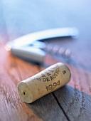 Weinkorken und Korkenzieher