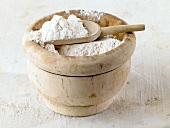 Flour in pot with scoop