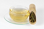 Schizonepeta tea (Japanese catnip) in glass cup