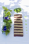 Goose liver terrine with wild herbs
