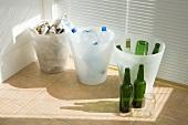 Müll trennen: Glas, Plastik und Restmüll