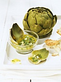 Artichoke with vinaigrette