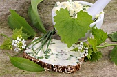 Wholemeal bread with herb butter