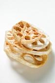 Deep-fried lotus roots