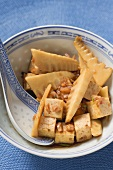 Tofu with bamboo shoots (Asia)