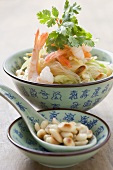 Glass noodle salad with prawns and peanuts (China)