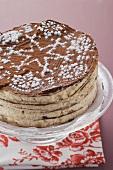 Baumkuchen cake ('Tree cake', for Christmas)
