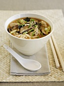 Noodle soup with mushrooms (Asia)