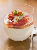 Chilli sour cream with elderflower jelly