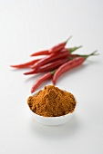 Fresh chillies and chilli powder
