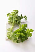 Fresh Organic Curly and Flat Leaf Parsley