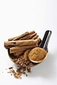 Ceylon cinnamon sticks and ground Ceylon cinnamon