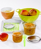 Homemade apricot mash (baby food)