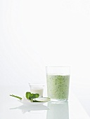 Spicy herb shake with soya milk