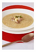 Orzo soup with beef