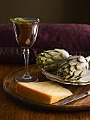 Vino alla salvia (rose wine with sage)