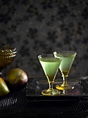 Japanese Slipper (cocktail with melon liqueur, Cointreau and lime juice)