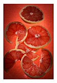 Pink grapefruit slices