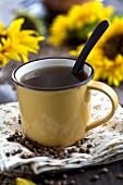 Barley coffee in a mug