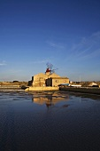 Salt pans and a mill on Mozia, Italy