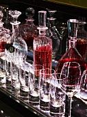 A bar display