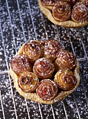 Mini apple tarts shaped like a bouquet of roses (by Alain Passard)