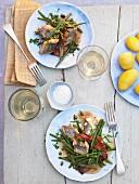 Aal mit Gemüse, Salz, Kartoffeln, Weisswein