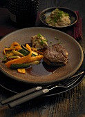 Fillet of beef with vegetables
