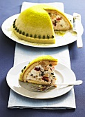 Cassata (dome-shaped ice cream dessert, Italy)