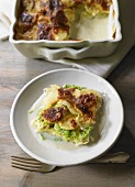 Savoy cabbage and potato bake