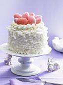 Easter coconut buttercream cake