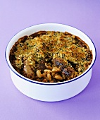 Cassoulet, with gratin topping