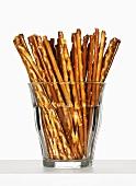 Glass of salted sticks