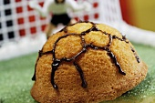 Football cake, goalkeeper in background