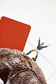 Football cake with player and red card