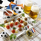 Football themed kebabs and accessories