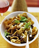 Ribbon pasta with duck ragout