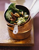 Broccoli with pepper caramel