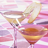 Hock Martini and Apple Martini