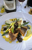 Red Roman with asparagus and onion confit (S. Africa)
