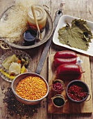 Ingredients for Turkish cuisine