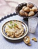Circassian chicken (chicken with walnut paste, Turkey)