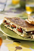Tomato, feta, bacon and herb sandwich