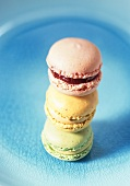 Colourful macarons (small French cakes)