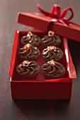 Chili sweets in red gift box
