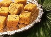 Mysore pak (Indian chick-pea flour sweets)