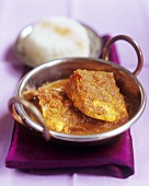 Fish with Madras curry sauce