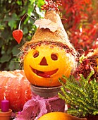 Pumpkin head with hat